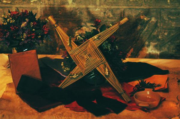 Bride's Cross gift on the 