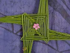 Finished Bride's Cross, still green