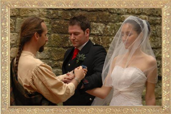 Scot AnSgeulaiche,  conducting a HandFasting Wedding Ceremony in the 