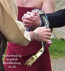 Handfasting at a wedding